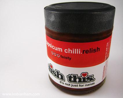 Capsicum chilli relish