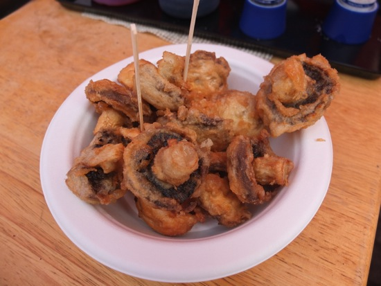 Tempura mushrooms